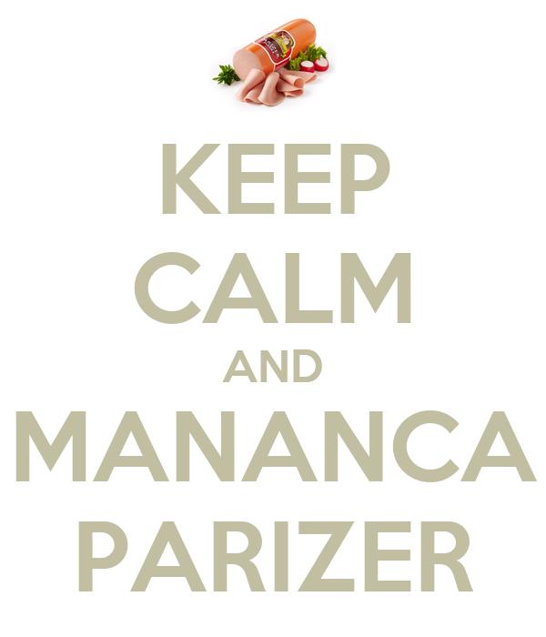 KEEP CALM AND MANANCA PARIZER