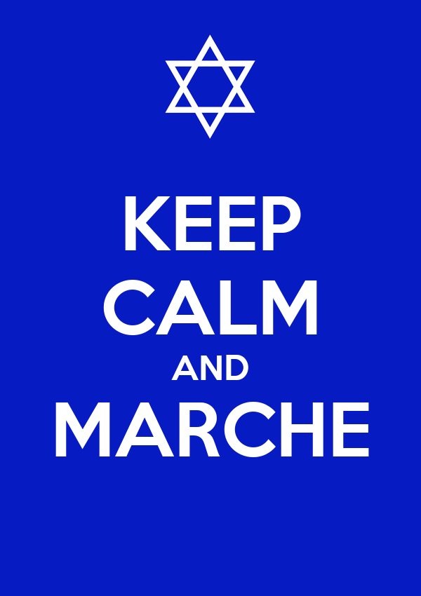 KEEP CALM AND MARCHE