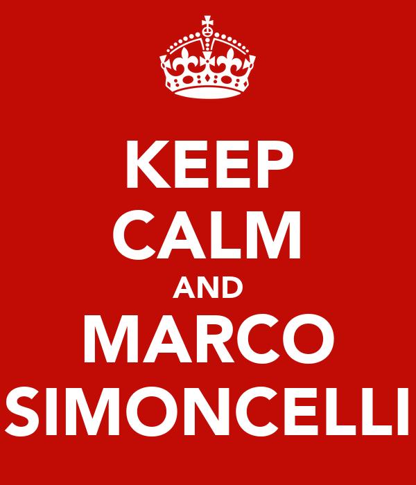 KEEP CALM AND MARCO SIMONCELLI