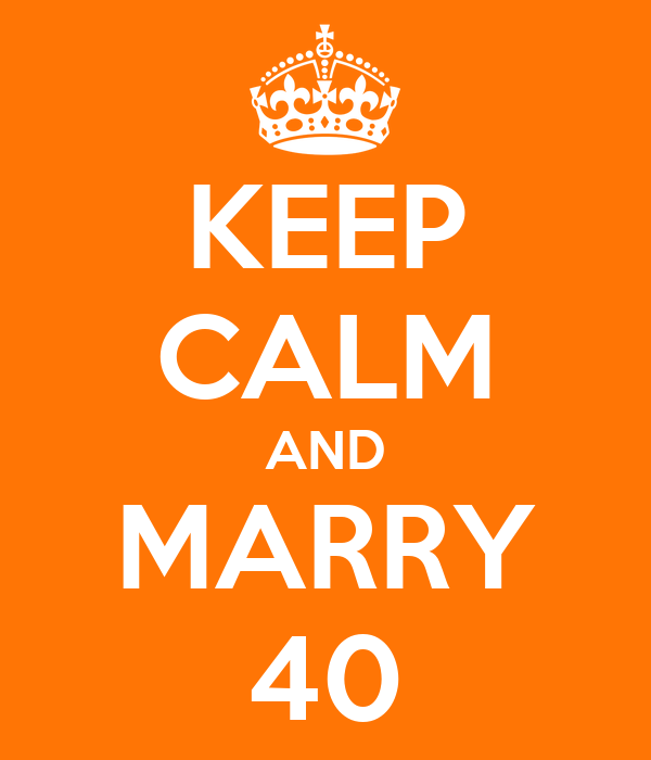 KEEP CALM AND MARRY 40