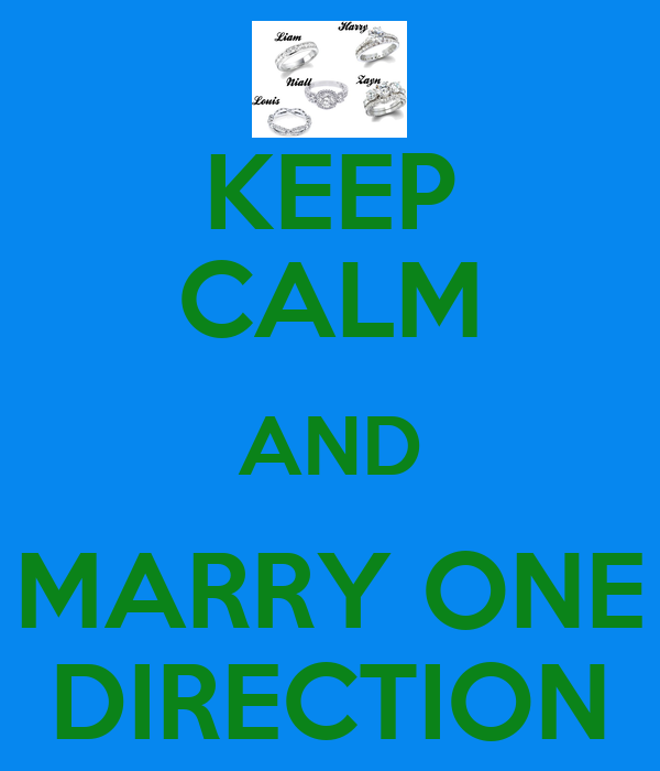 Keep Calm And Marry One Direction Poster Jessica