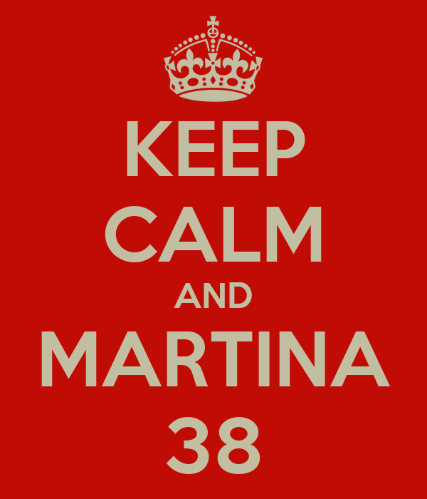 KEEP CALM AND MARTINA 38