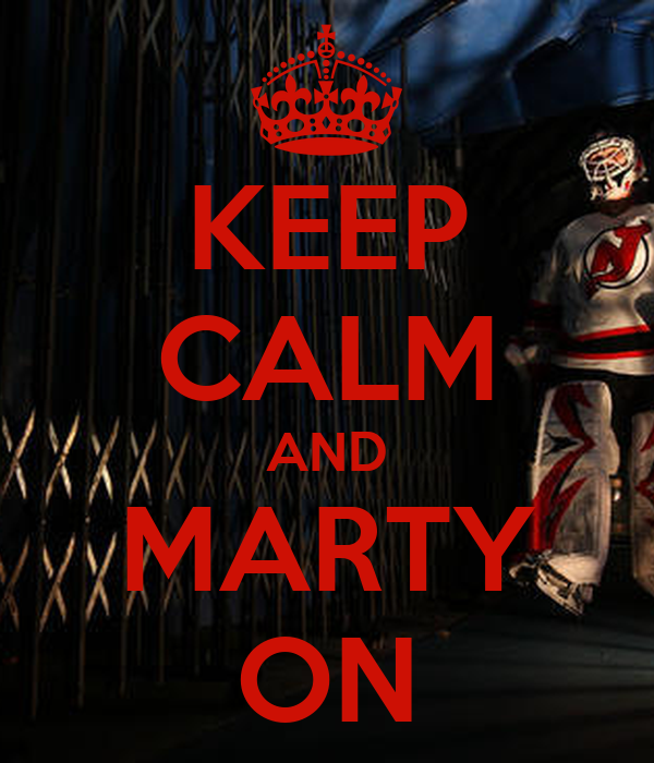 KEEP CALM AND MARTY ON