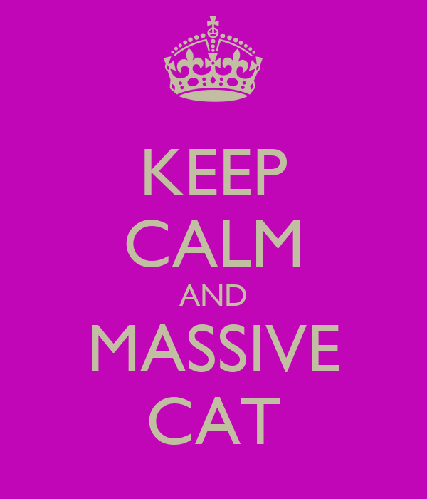 KEEP CALM AND MASSIVE CAT