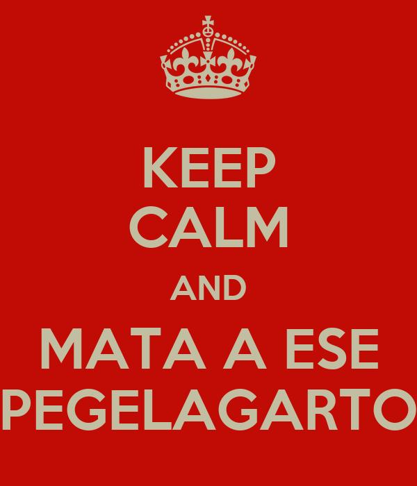 KEEP CALM AND MATA A ESE PEGELAGARTO