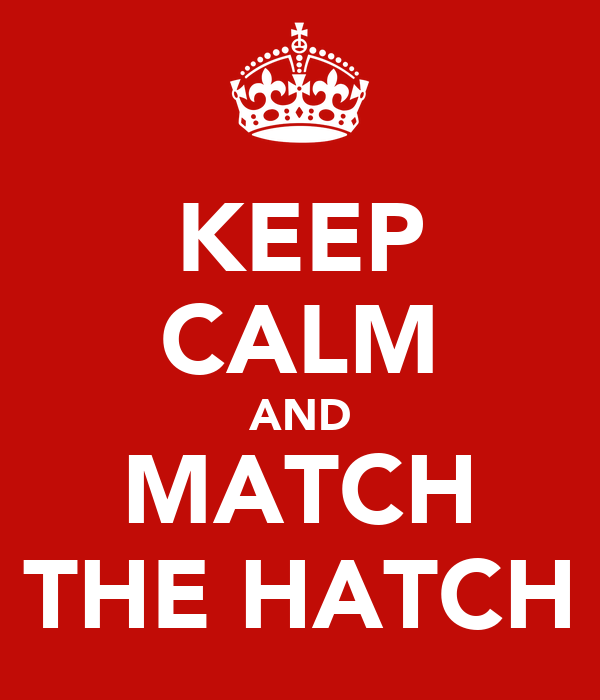 KEEP CALM AND MATCH THE HATCH