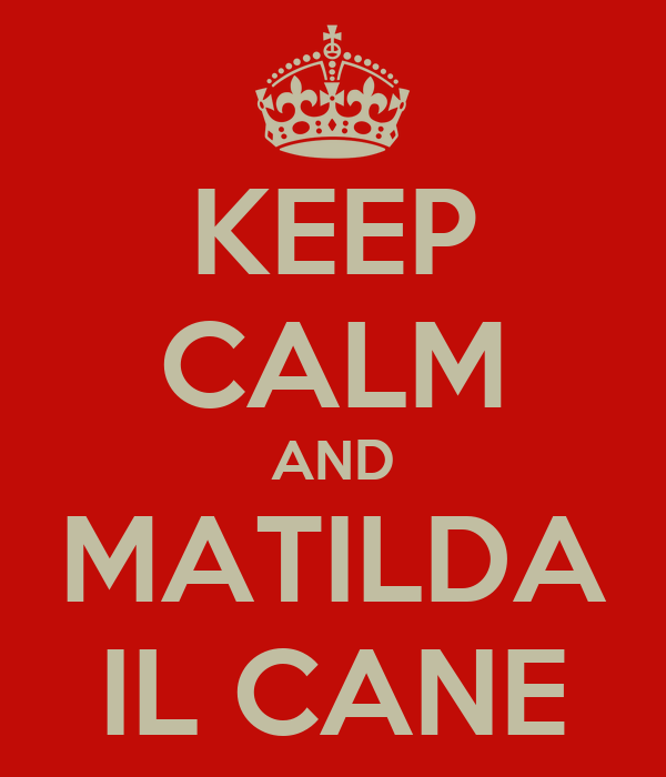 KEEP CALM AND MATILDA IL CANE