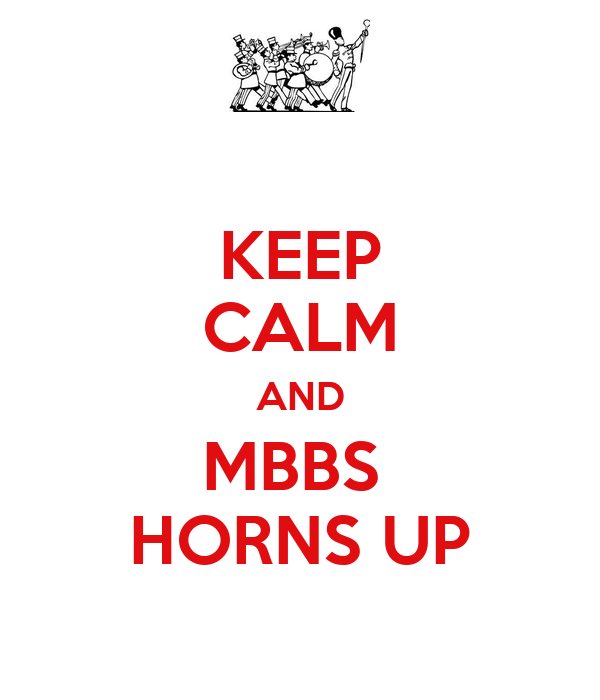 KEEP CALM AND MBBS  HORNS UP