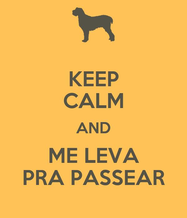 KEEP CALM AND ME LEVA PRA PASSEAR