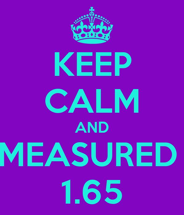 KEEP CALM AND MEASURED  1.65