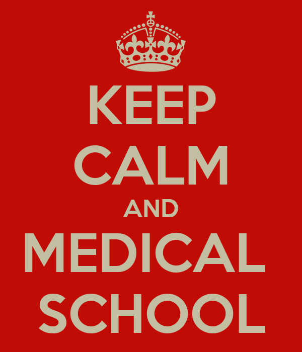 KEEP CALM AND MEDICAL  SCHOOL