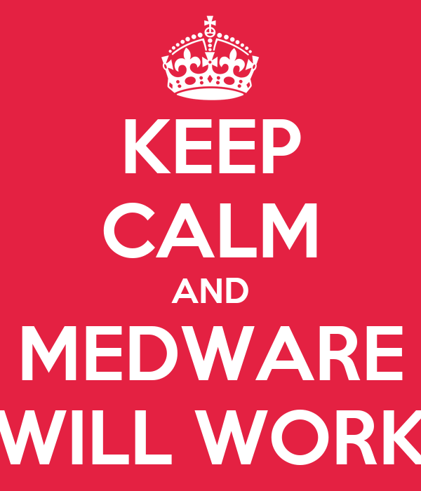 KEEP CALM AND MEDWARE WILL WORK