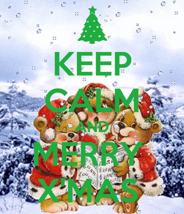 KEEP CALM AND MERRY  X'MAS