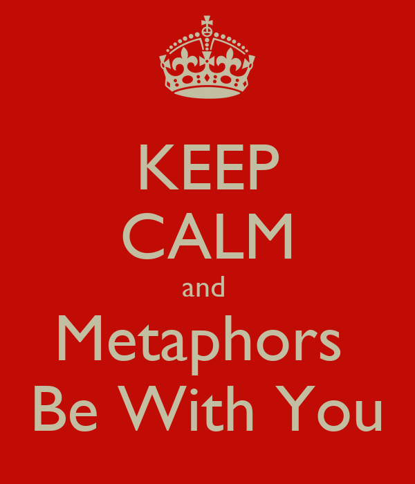 KEEP CALM and  Metaphors  Be With You