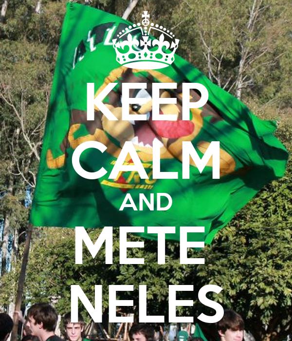KEEP CALM AND METE  NELES