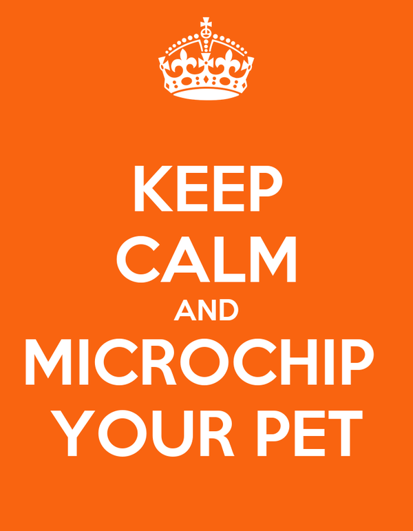 KEEP CALM AND MICROCHIP  YOUR PET