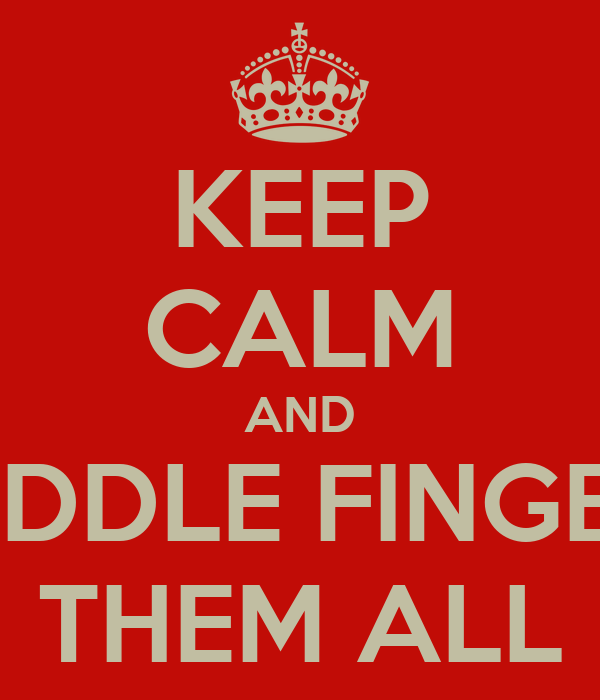 KEEP CALM AND MIDDLE FINGER  THEM ALL