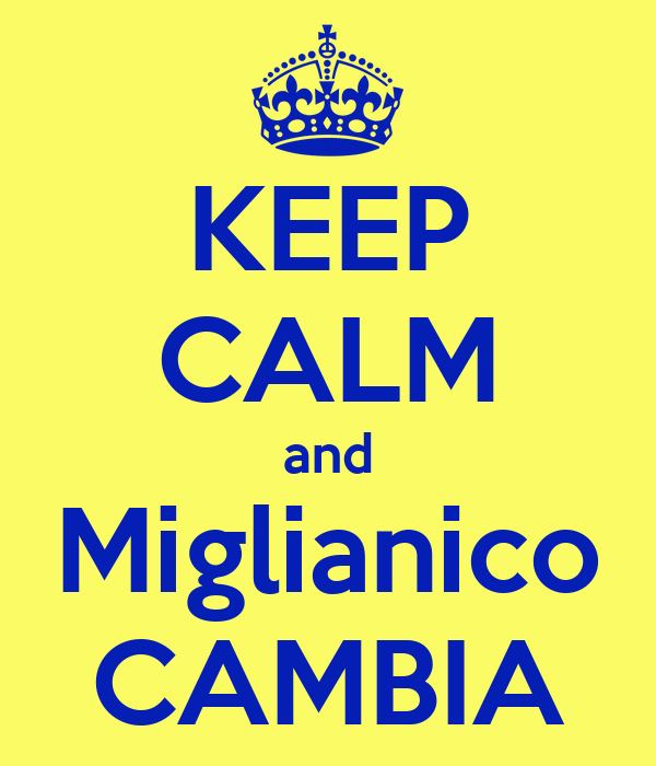 KEEP CALM and Miglianico CAMBIA