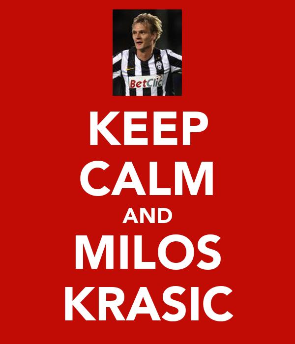KEEP CALM AND MILOS KRASIC