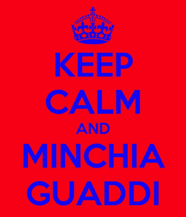 KEEP CALM AND MINCHIA GUADDI