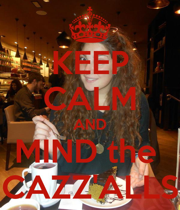 KEEP CALM AND MIND the  CAZZ'ALLS