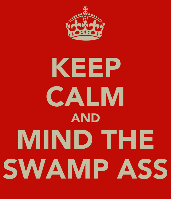 KEEP CALM AND MIND THE SWAMP ASS