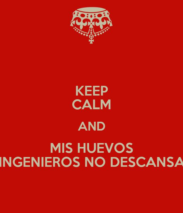 KEEP CALM AND MIS HUEVOS LOS INGENIEROS NO DESCANSAMOS