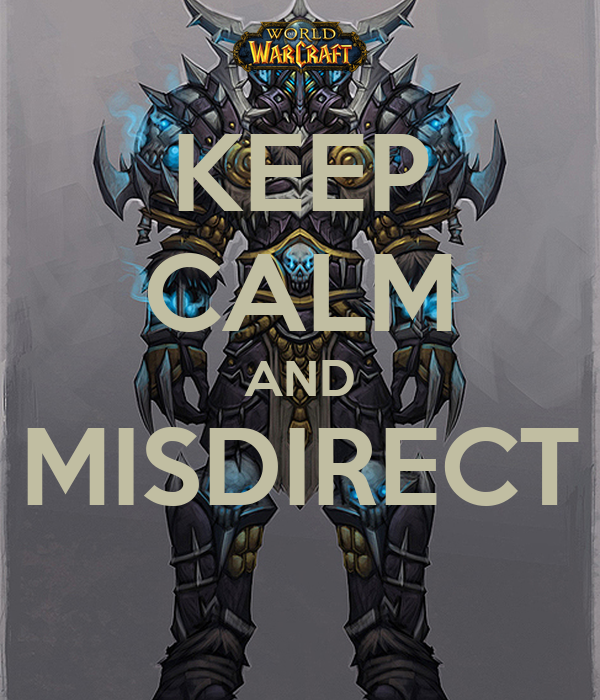 KEEP CALM AND MISDIRECT