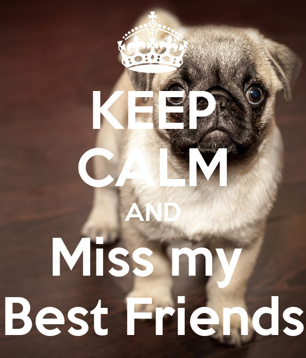 KEEP CALM AND Miss my  Best Friends