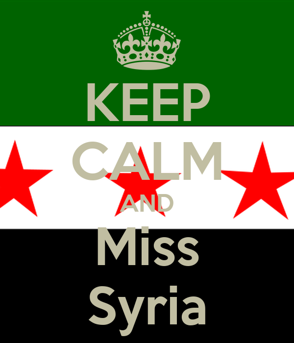 KEEP CALM AND Miss Syria