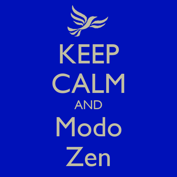 KEEP CALM AND Modo Zen
