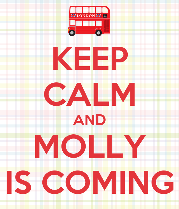 KEEP CALM AND MOLLY IS COMING