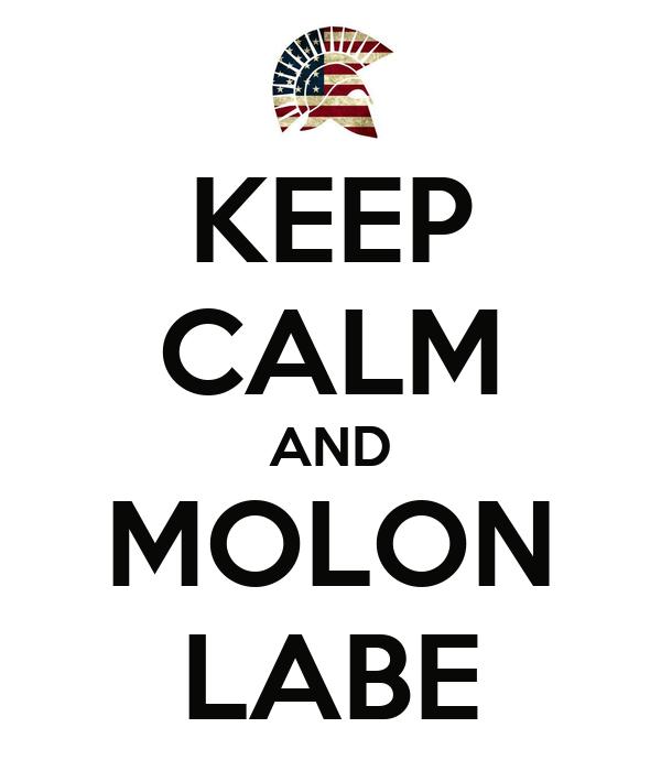 KEEP CALM AND MOLON LABE