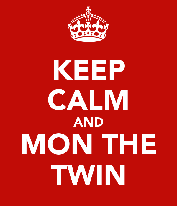 KEEP CALM AND MON THE TWIN