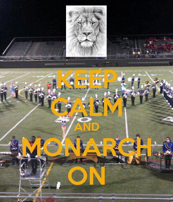 KEEP CALM AND MONARCH ON