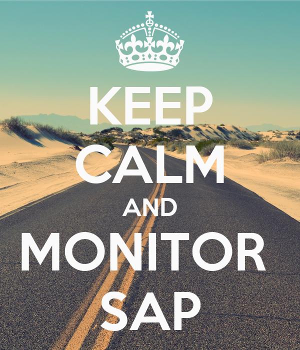 KEEP CALM AND MONITOR  SAP