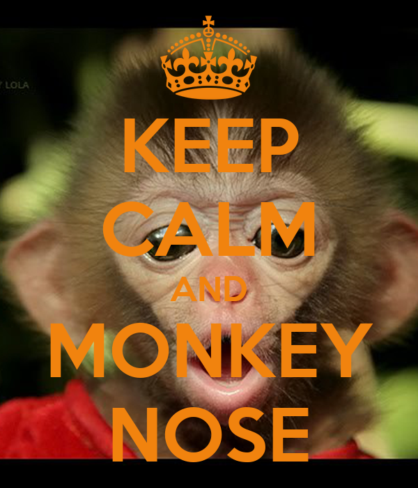 KEEP CALM AND MONKEY NOSE
