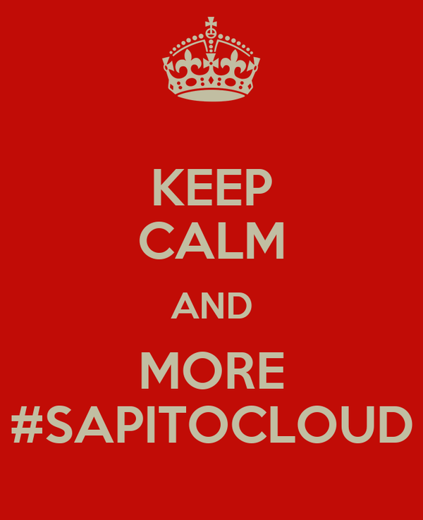 KEEP CALM AND MORE #SAPITOCLOUD