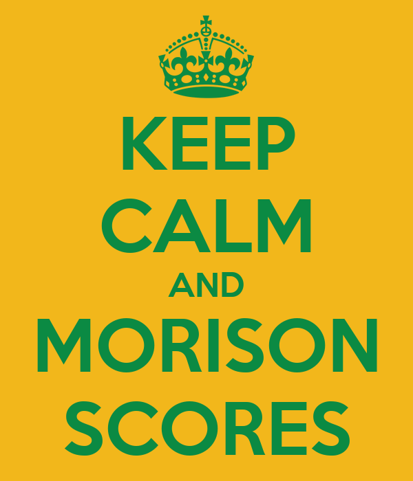 KEEP CALM AND MORISON SCORES