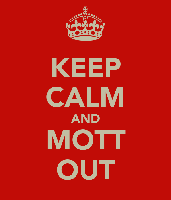 KEEP CALM AND MOTT OUT
