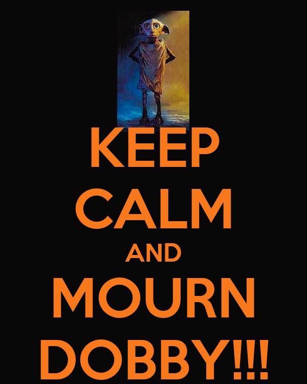 KEEP CALM AND MOURN DOBBY!!!