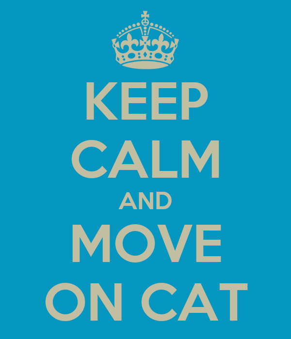 KEEP CALM AND MOVE ON CAT
