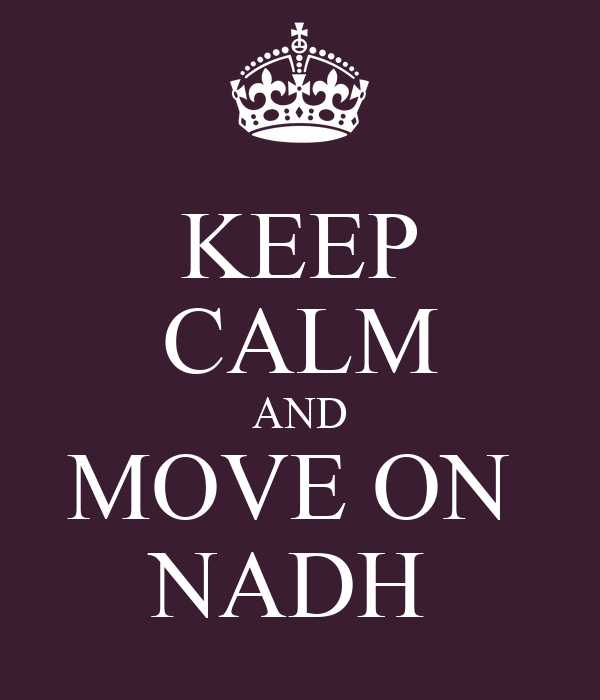 KEEP CALM AND MOVE ON  NADH