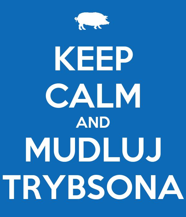 KEEP CALM AND MUDLUJ TRYBSONA