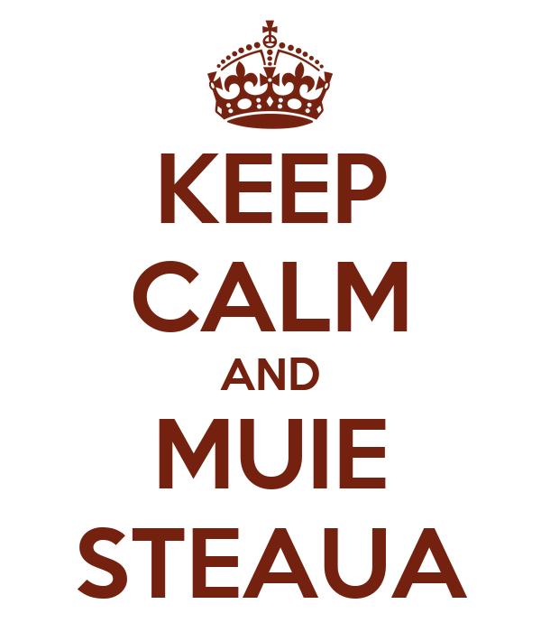 KEEP CALM AND MUIE STEAUA