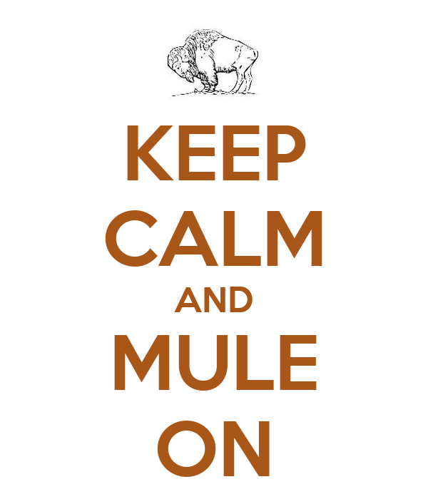 KEEP CALM AND MULE ON