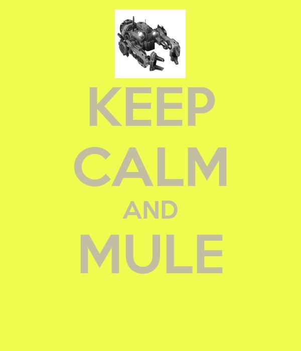 KEEP CALM AND MULE