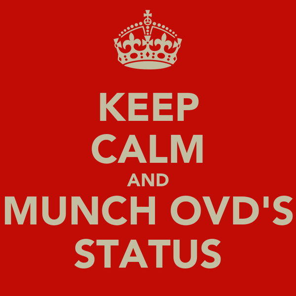 KEEP CALM AND MUNCH OVD'S STATUS