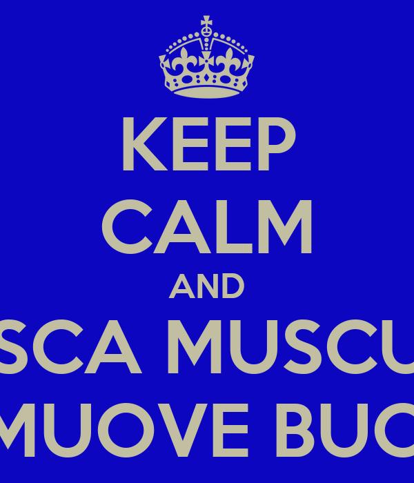 KEEP CALM AND MUSCA MUSCUNA CHI SI MUOVE BUCCIUNA
