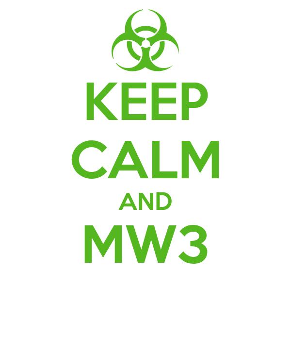 KEEP CALM AND MW3